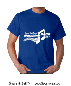 2010-11 DHS Marching Band Tee Design Zoom